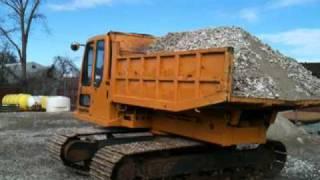 Komatsu CD60R Load ,spin and dump