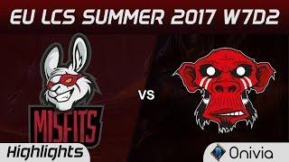 MSF vs MM Highlights Game 1 EU LCS SUMMER 2017 Misfits vs Mysterious Monkeys by Onivia