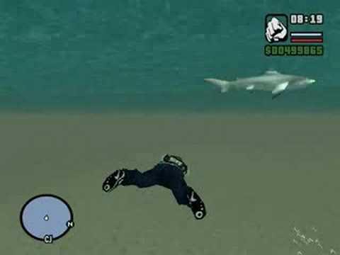 Ataque do tubarão NO GTA SAN ANDREAS