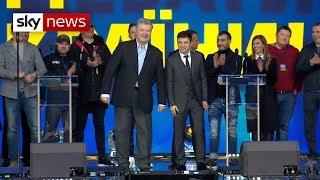 Ukraine's presidential rivals trade insults in TV debate