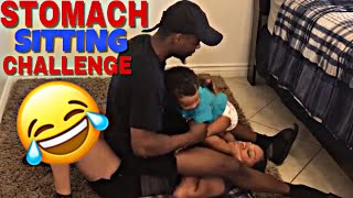 STOMACH SITTING CHALLENGE | DONT TRY THIS AT HOME | LENA&WILL