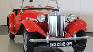 MG TD 1951 Convertible, Signal Red, Matching Numbers, very good condition -VIDEO- www.ERclassics.com