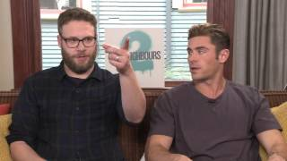 Seth Rogen and Zac Efron talk about Bad Neighbours 2