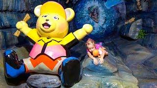 Развлечения для детей Детская игровая площадка Мишка Тедди Indoor playground Entertainment for kids
