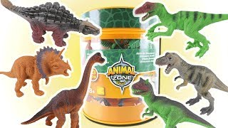 My New Dinosaurs Toy Bucket! Opening Dinosaur Toys Box. Learning dinosaurs names and sounds For Kids