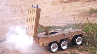 Wow! Amazing DIY RC Missile Launcher Tank From Cardboard