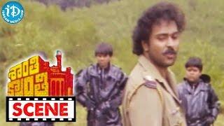 Shanti Kranti Movie Scenes - Nagarjuna Escapes From Ravichandran    Juhi Chawla    Kushboo