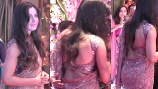 Katrina Kaif Hot In Saree At Neil Nitin Mukesh's Wedding Reception