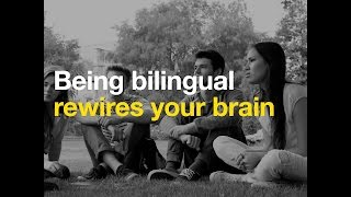 Being bilingual rewires your brain
