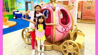Indoor Playground with Cute House, Big Slides and Supermarket