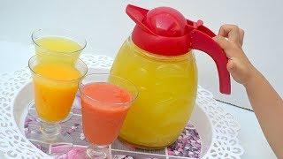 العصير التركي السحري المشهور ب برتقالة واحدة وليمونة واحدة منعش وراااائع/ عصائر رمضان