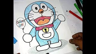 How to Draw Doraemon Easy Drawing ||Children Day Spacial