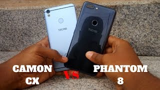 TECNO Phantom 8 vs Camon CX: Camera Review and Comparison