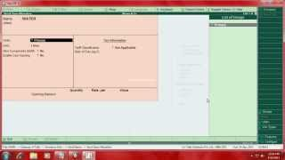 how to maintain manufacturing account called bill of material BOM in tally.erp9.
