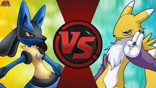 LUCARIO vs RENAMON! (Pokémon vs Digimon) Cartoon Fight Club Episode 163