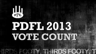 2013 PDFL Vote Count - Thirds Footy [reece]