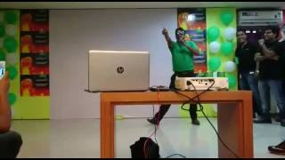 Disco dancer from OPPO employee mr.Swapan Chakraborty