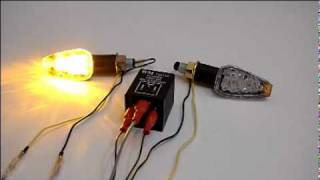 Motorcycle LED Turn Signal Light with Electronic Signal Relay