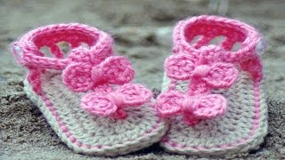 Crochet Baby Shoes, Booties and  Sandals █▬█ █ ▀█▀
