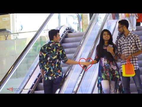 Touching Strangers Hands On The Escalator | Prank In Bangladesh 2017|