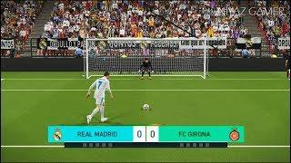 REAL MADRID vs FC GIRONA   Penalty Shootout   PES 2018 Gameplay PC