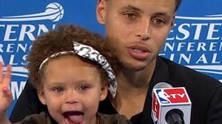 Riley Curry steals the press conference