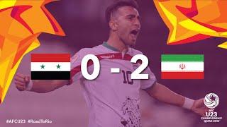 SYRIA vs IRAN: AFC U23 Championship 2016 (Group Stage)