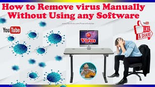 How to Remove virus manually Using CMD 2018 windows 10,8, 7