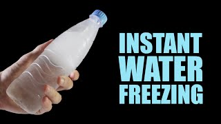 Instant Water Freezing - 5 Amazing Tricks