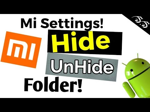 how to hide and unhide folder in mi mobile/SS Techinfo