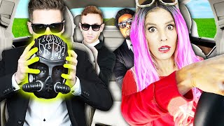 Picked up GAME MASTER Inc. in an UBER under Disguise with Matt! (bad idea) | Rebecca Zamolo