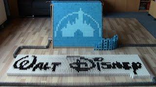 Walt Disney in 30,000 dominoes (collab with The Ocelot King)