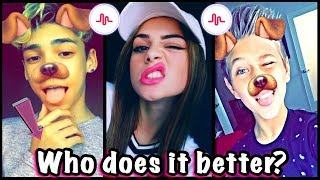 Best Transitions Musical.ly Challenge | Who Does It Better? Top Musically Challenge