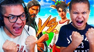 1V1 MINDOFREZ VS LITTLE BROTHER!!! FIGHT OF THE YEAR! SOMEONE GOT EXPOSED!! - FORTNITE