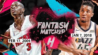 Fantasy Match-Up: Dwyane Wade vs Donovan Mitchell CRAZY Rookies Duel Highlights (2018 vs 2004)