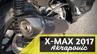 Yamaha X-MAX 300 2017 with Akrapovic - Start Up & Sound