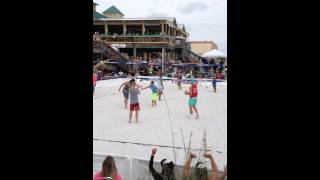 12 year old beach volleyball child prodigy at Fud's Emerald Coast Fall Classic