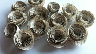 Rolled Book Paper Roses ~ Tutorial ~