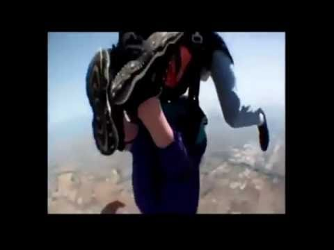 80 YEAR OLD LADY SKY DIVING NIGHTMARE!