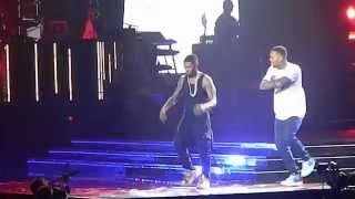Usher brought out Chris Brown live at URXTOUR - Loyal & New Flame