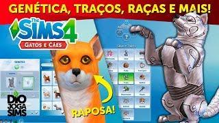 GENÉTICA, TRAÇOS, RAÇAS, CRIAÇÃO E PERSONALIZAÇÃO DE PETS! | The Sims 4 Gatos e Cães (TS4 Pets)