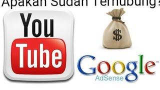 Cara Mengetahui Apakah Akun Youtube Sudah Terhubung Dengan Google Adsense