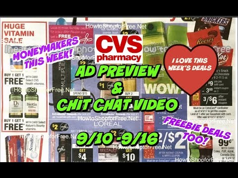 CVS AD PREVIEW FOR 9/10 - 9/16 | LOTS OF FREEBIES & POSSIBLE MONEYMAKERS!!