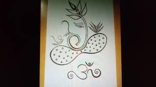 EKDANTAY VAKRATUNDAY GAURI TANYAY SONG & SIMPLE FREE HAND SHREE GANPATI SKETCHES.