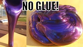 😱HOW TO MAKE SLIME WITHOUT GLUE OR ANY ACTIVATOR! 😱NO BORAX! NO GLUE!