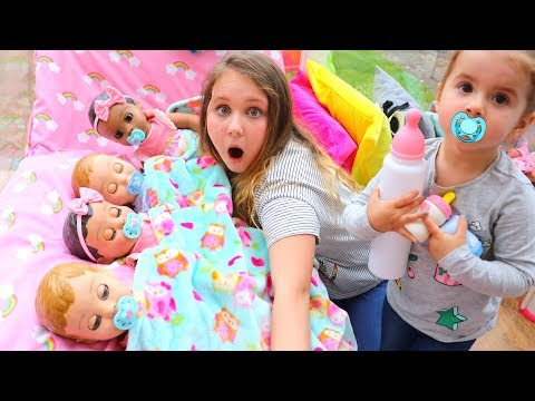 Xxx Mp4 Kids Pretend Play With Baby Dolls Feeding And Night Time Routine Video 3gp Sex