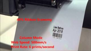 Domino Printing  V220i thermal transfer low ribbon use