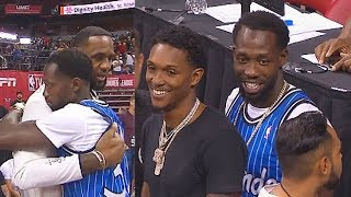 LeBron James Greets Kawhi Leonard's New Clippers Teammates & Jerry West At 2019 Summer League!