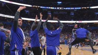 The Splash Brothers Hit 7 3s Each! Stephen Curry Klay Thompson! Warriors vs Magic