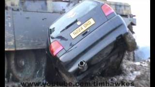 VW Polo run-over by tank - crush 45